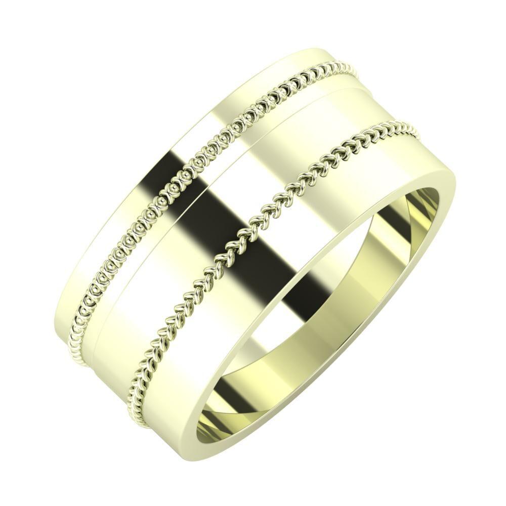 Afrodita - Áfonya 9mm 22 karátos fehér arany karikagyűrű