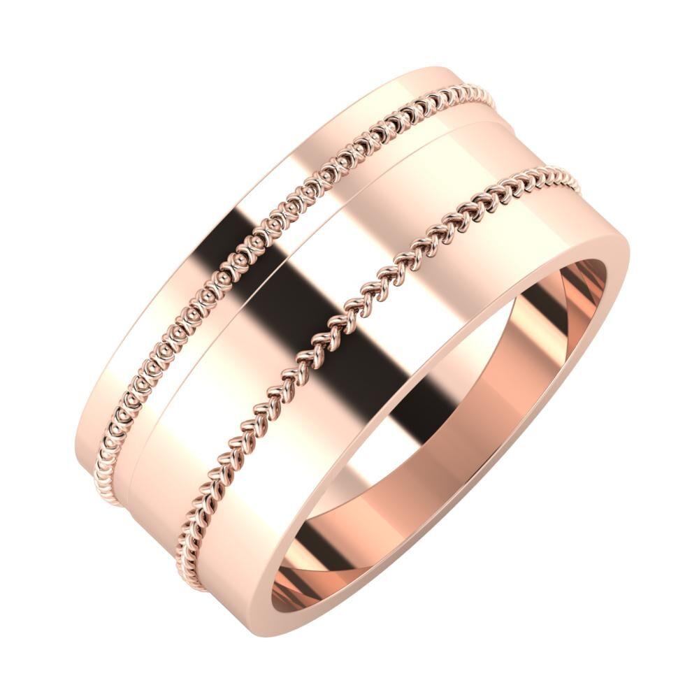 Afrodita - Áfonya 9mm 18 karátos rosé arany karikagyűrű