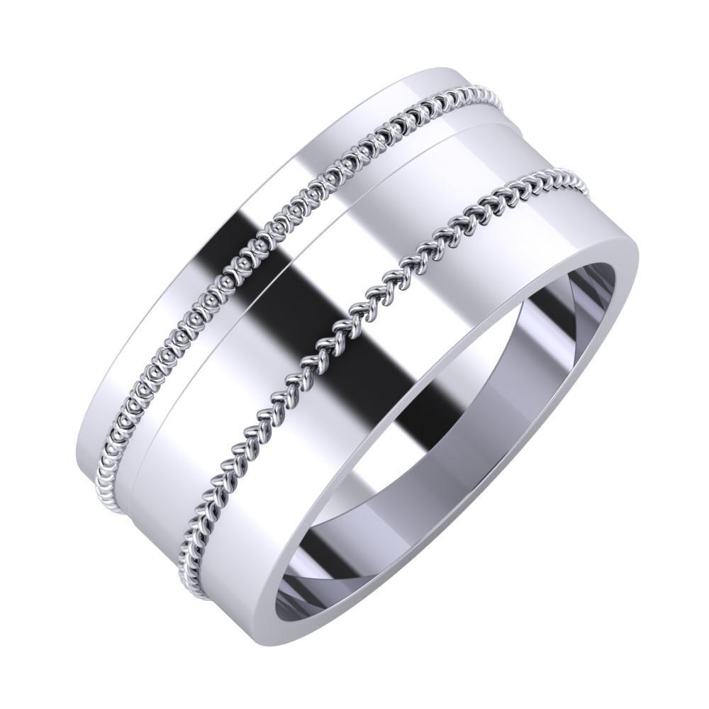 Afrodita - Áfonya 9mm platina karikagyűrű