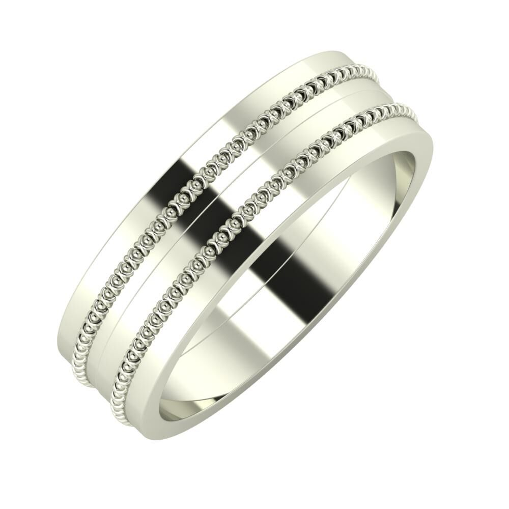 Afrodita - Afrodita 6mm 14 karátos fehér arany karikagyűrű