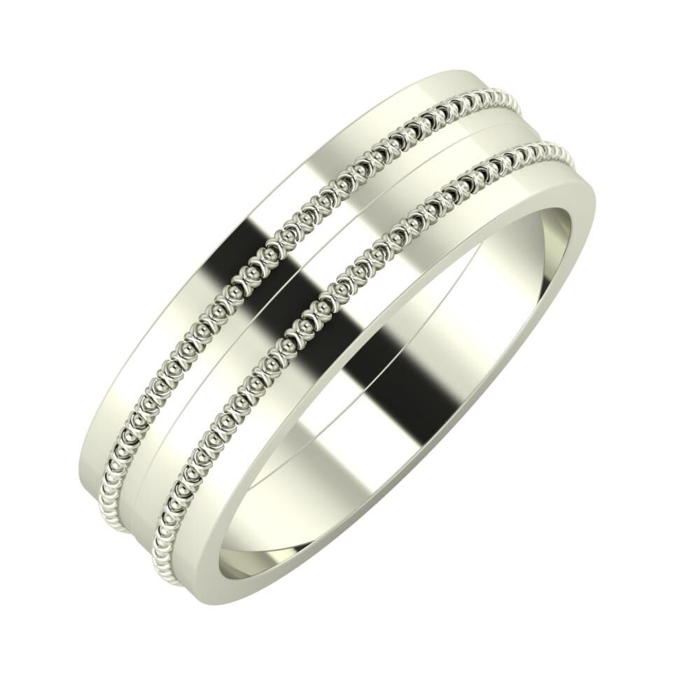 Afrodita - Afrodita 6mm 18 karátos fehér arany karikagyűrű
