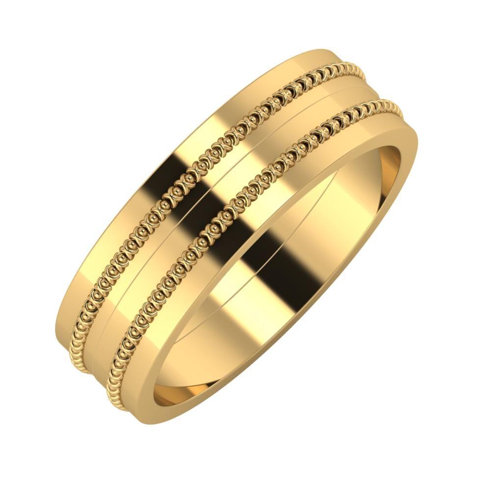 Afrodita - Afrodita 6mm 18 karátos sárga arany karikagyűrű