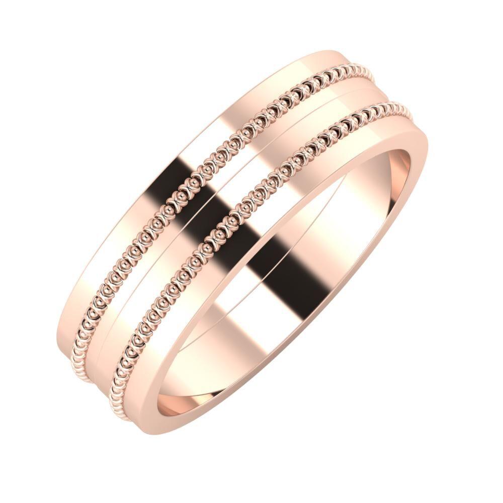 Afrodita - Afrodita 6mm 18 karátos rosé arany karikagyűrű