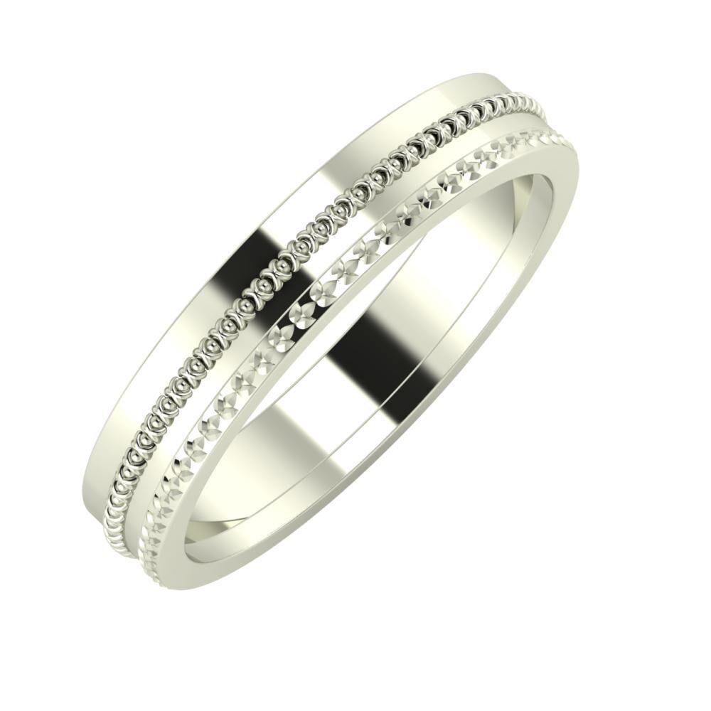 Afrodita - Ági 4mm 18 karátos fehér arany karikagyűrű