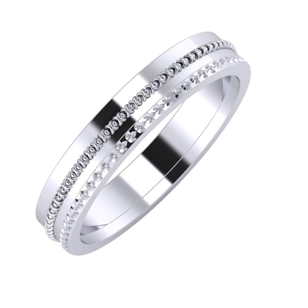 Afrodita - Ági 4mm platina karikagyűrű