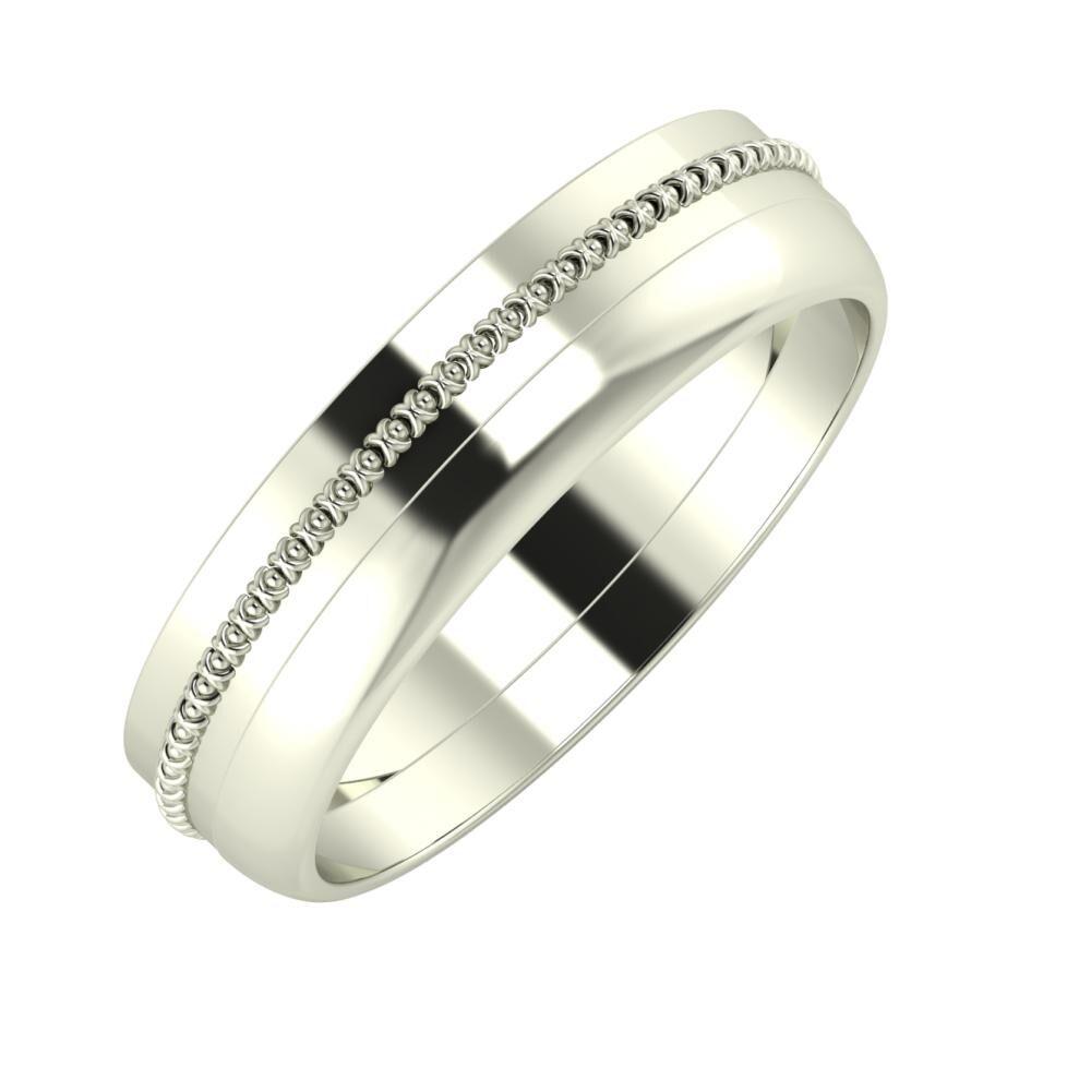 Afrodita - Ágosta 5mm 18 karátos fehér arany karikagyűrű