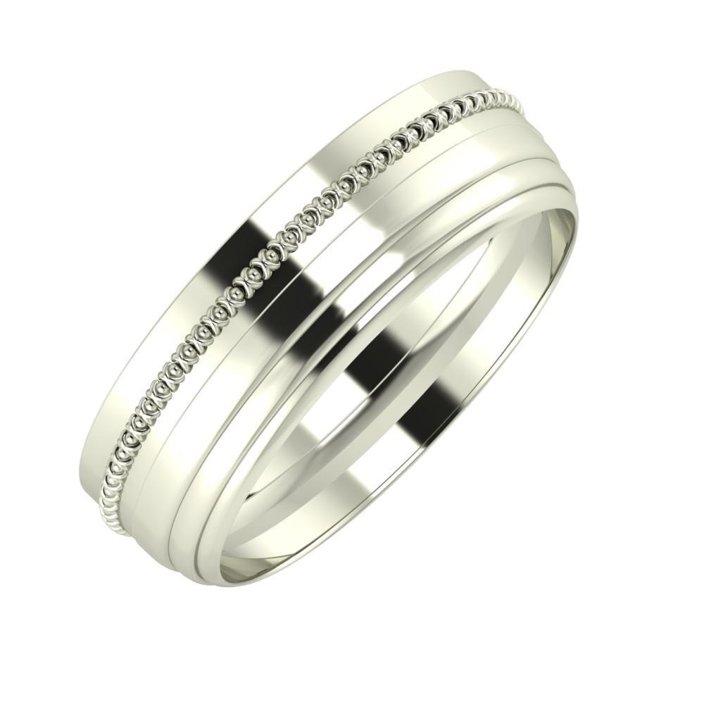 Afrodita - Aina 6mm 18 karátos fehér arany karikagyűrű