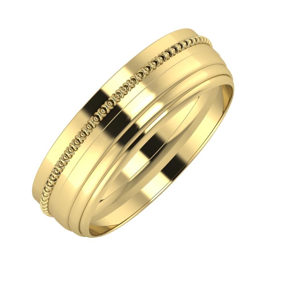 Afrodita - Aina 6mm 14 karátos sárga arany karikagyűrű