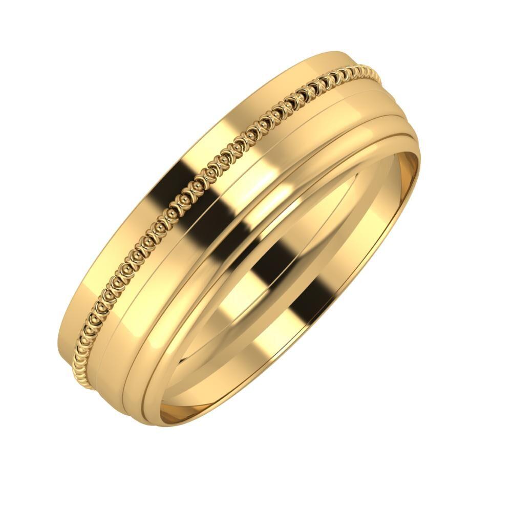 Afrodita - Aina 6mm 18 karátos sárga arany karikagyűrű