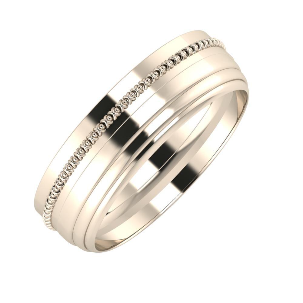 Afrodita - Aina 6mm 22 karátos rosé arany karikagyűrű