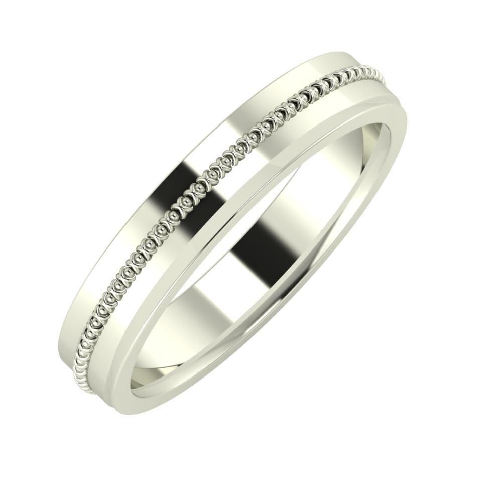 Afrodita - Aisa 4mm 14 karátos fehér arany karikagyűrű