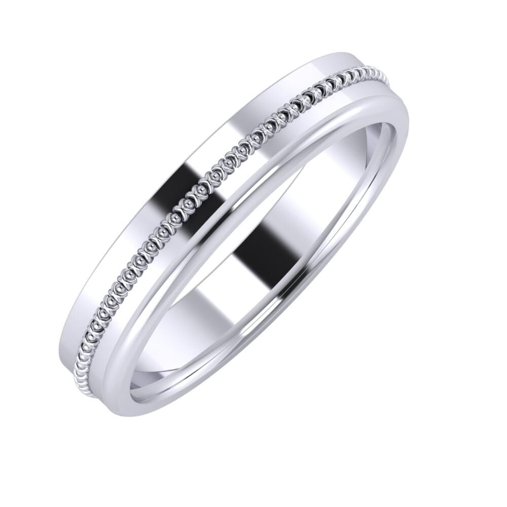 Afrodita - Aletta 4mm platina karikagyűrű