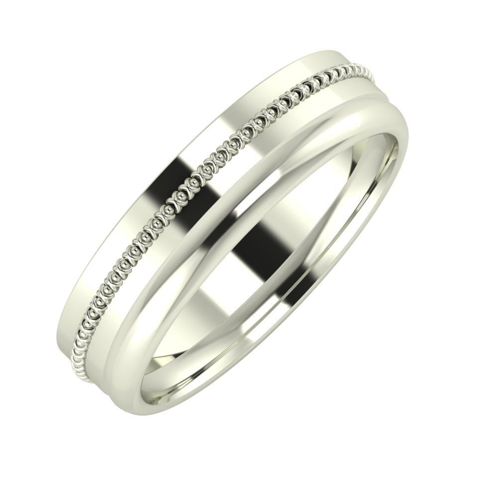 Afrodita - Alexa 5mm 14 karátos fehér arany karikagyűrű