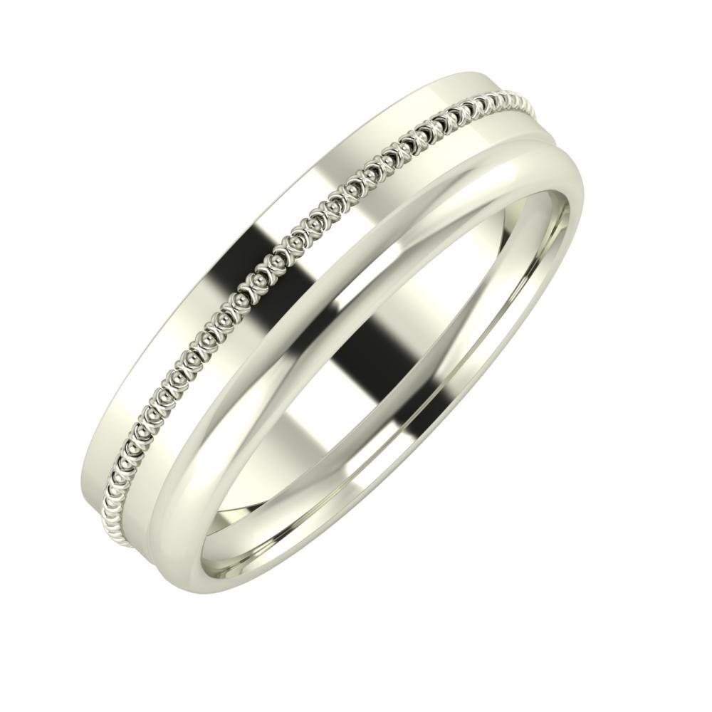 Afrodita - Alexa 5mm 18 karátos fehér arany karikagyűrű