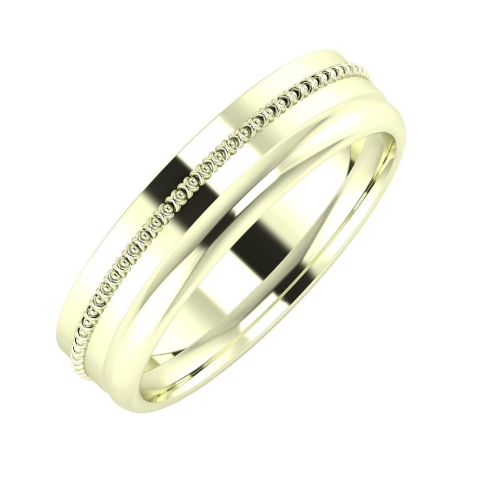 Afrodita - Alexa 5mm 22 karátos fehér arany karikagyűrű