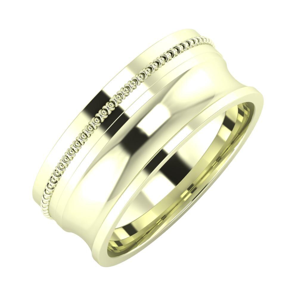 Afrodita - Alexandrina 8mm 22 karátos fehér arany karikagyűrű