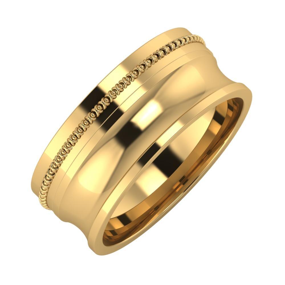Afrodita - Alexandrina 8mm 22 karátos sárga arany karikagyűrű