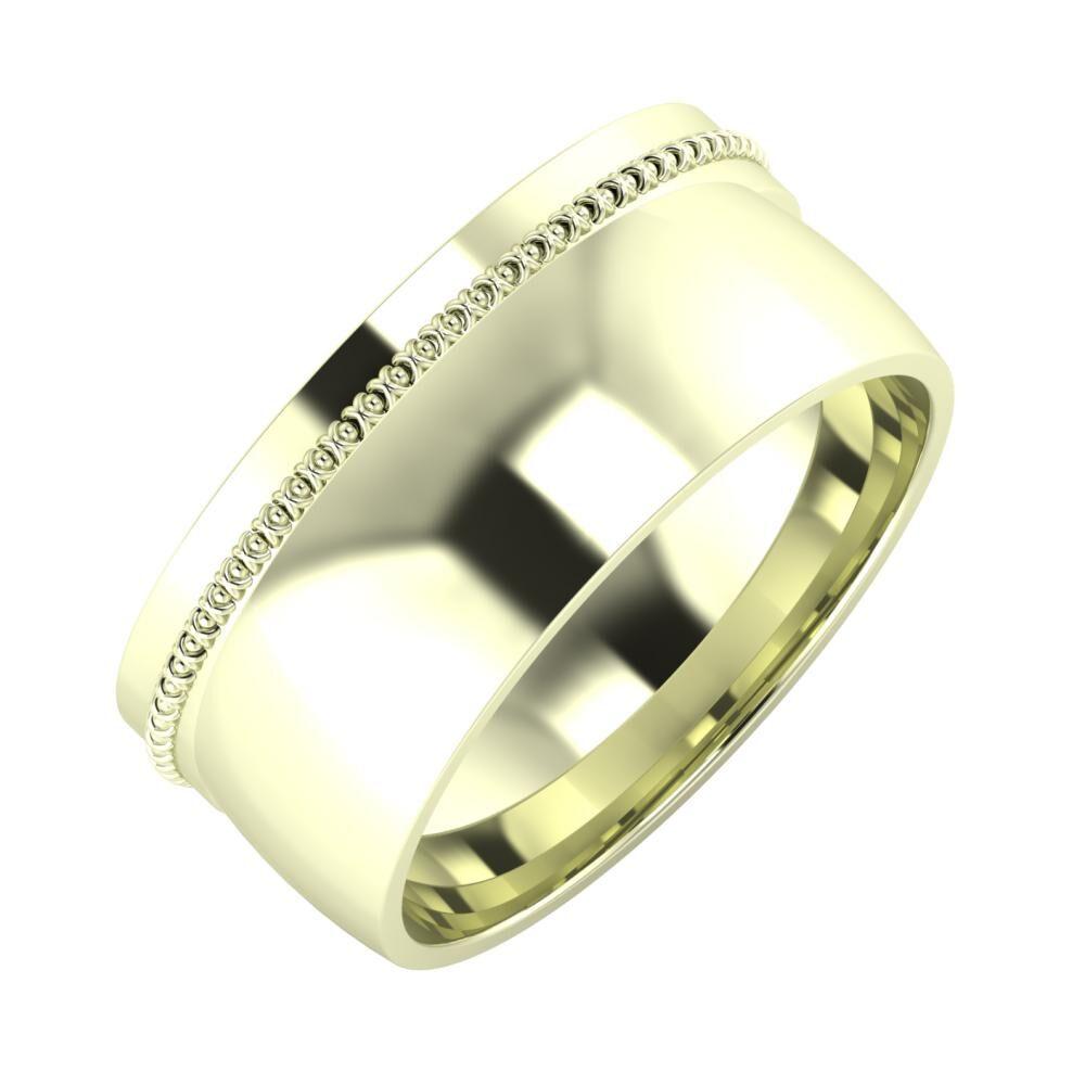 Afrodita - Alma 9mm 22 karátos fehér arany karikagyűrű