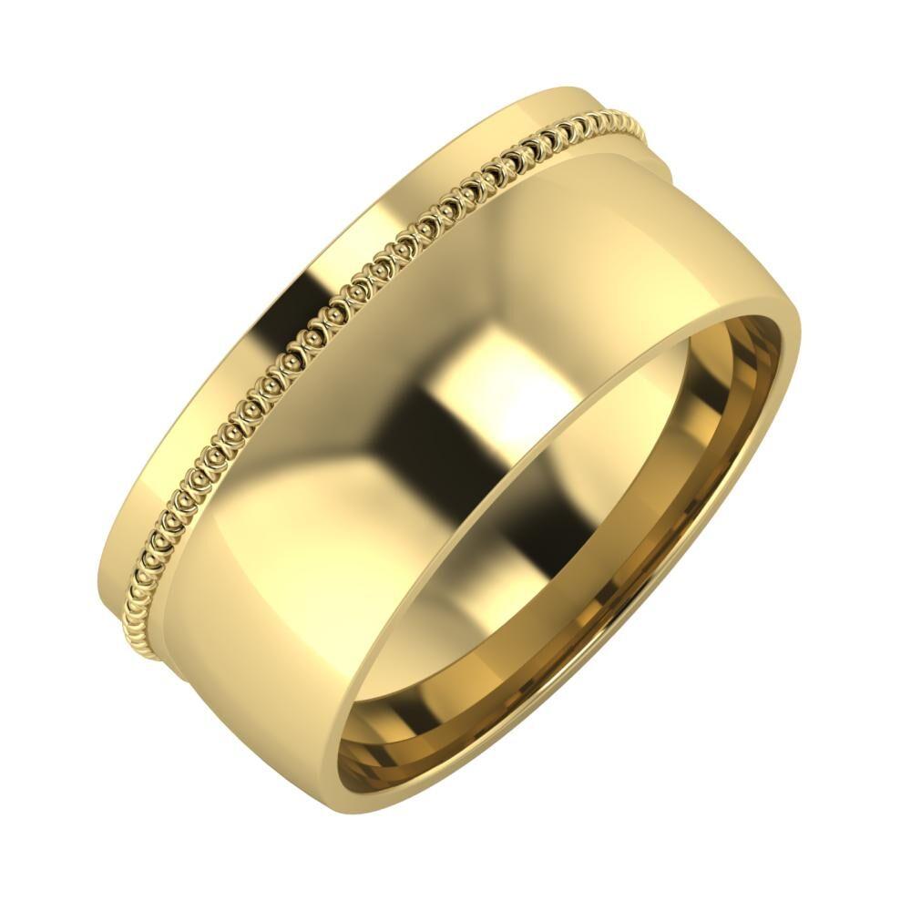 Afrodita - Alma 9mm 14 karátos sárga arany karikagyűrű
