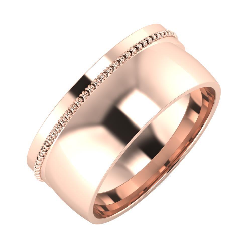 Afrodita - Alma 9mm 18 karátos rosé arany karikagyűrű