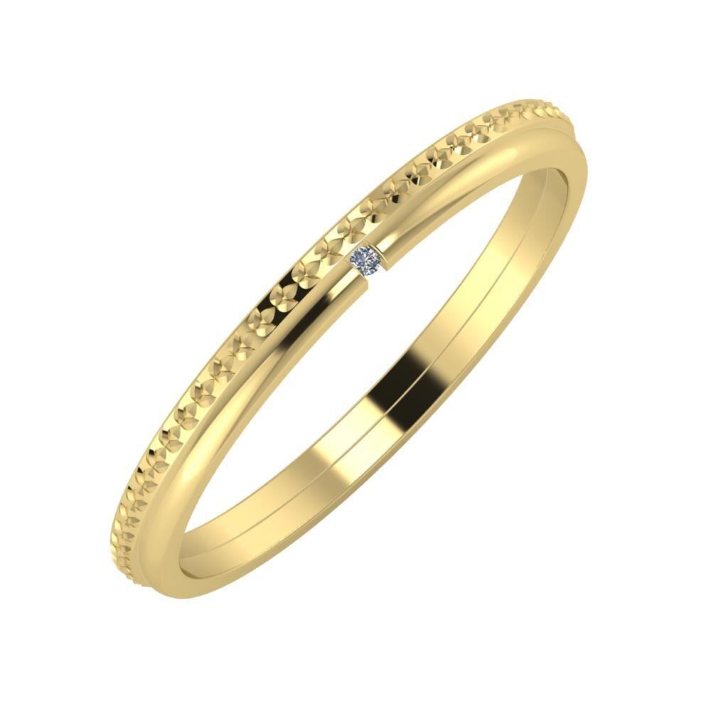 Ági - Adalind 2mm 14 karátos sárga arany karikagyűrű
