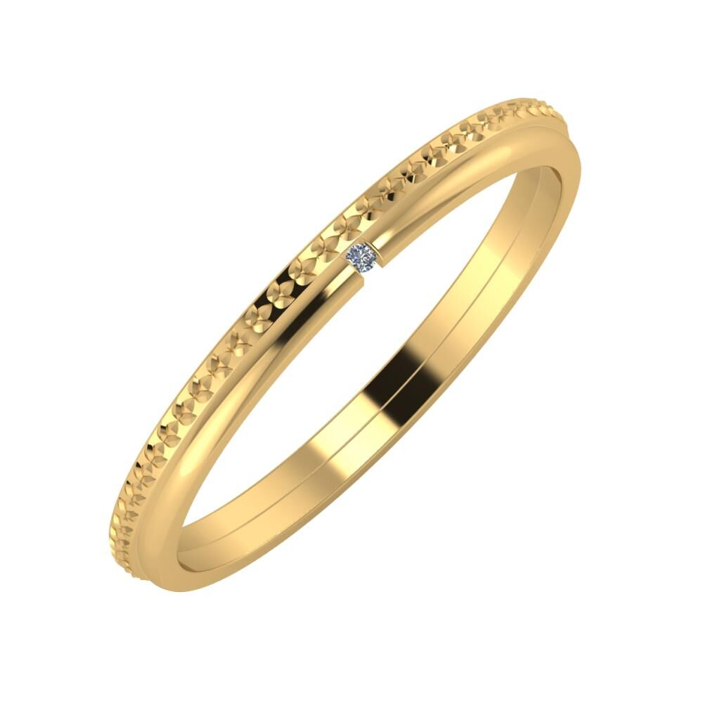 Ági - Adalind 2mm 18 karátos sárga arany karikagyűrű