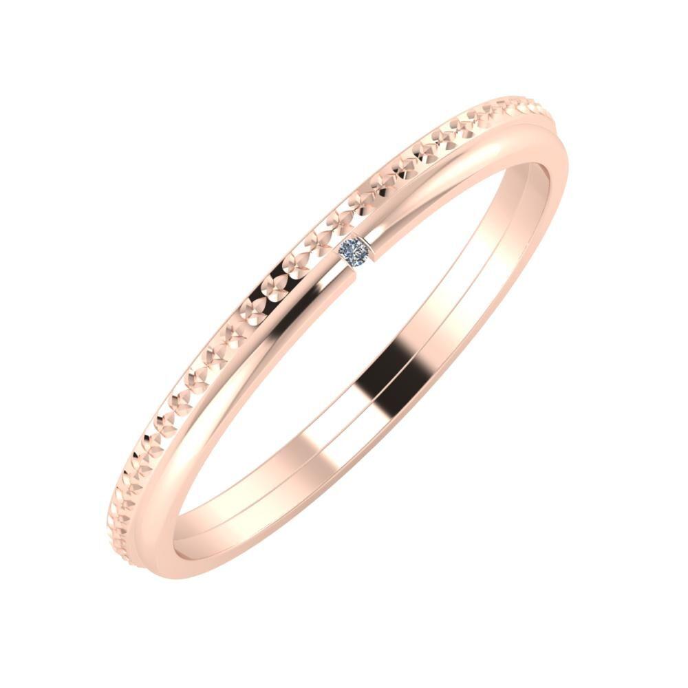 Ági - Adalind 2mm 18 karátos rosé arany karikagyűrű