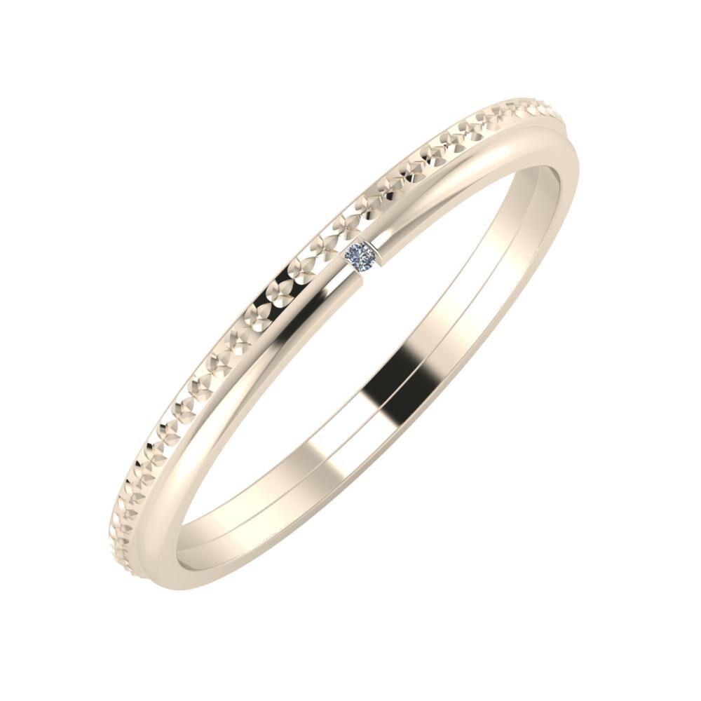 Ági - Adalind 2mm 22 karátos rosé arany karikagyűrű