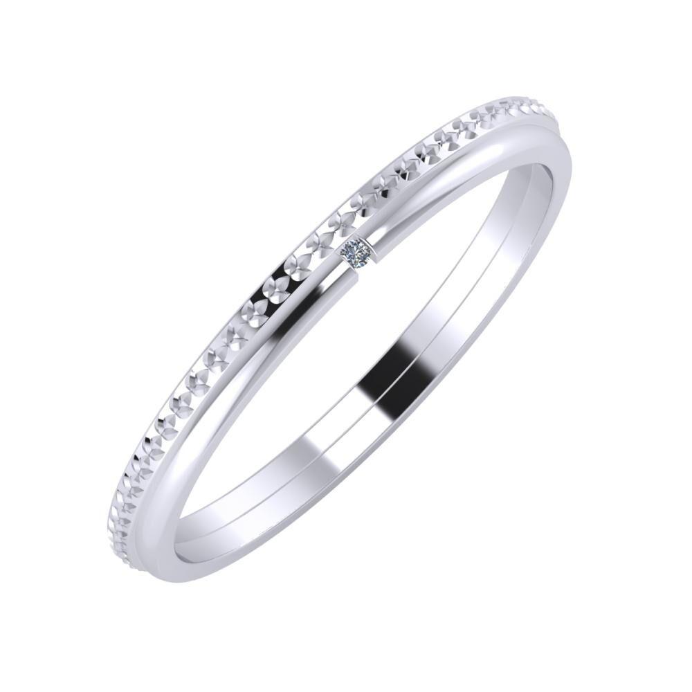 Ági - Adalind 2mm platina karikagyűrű