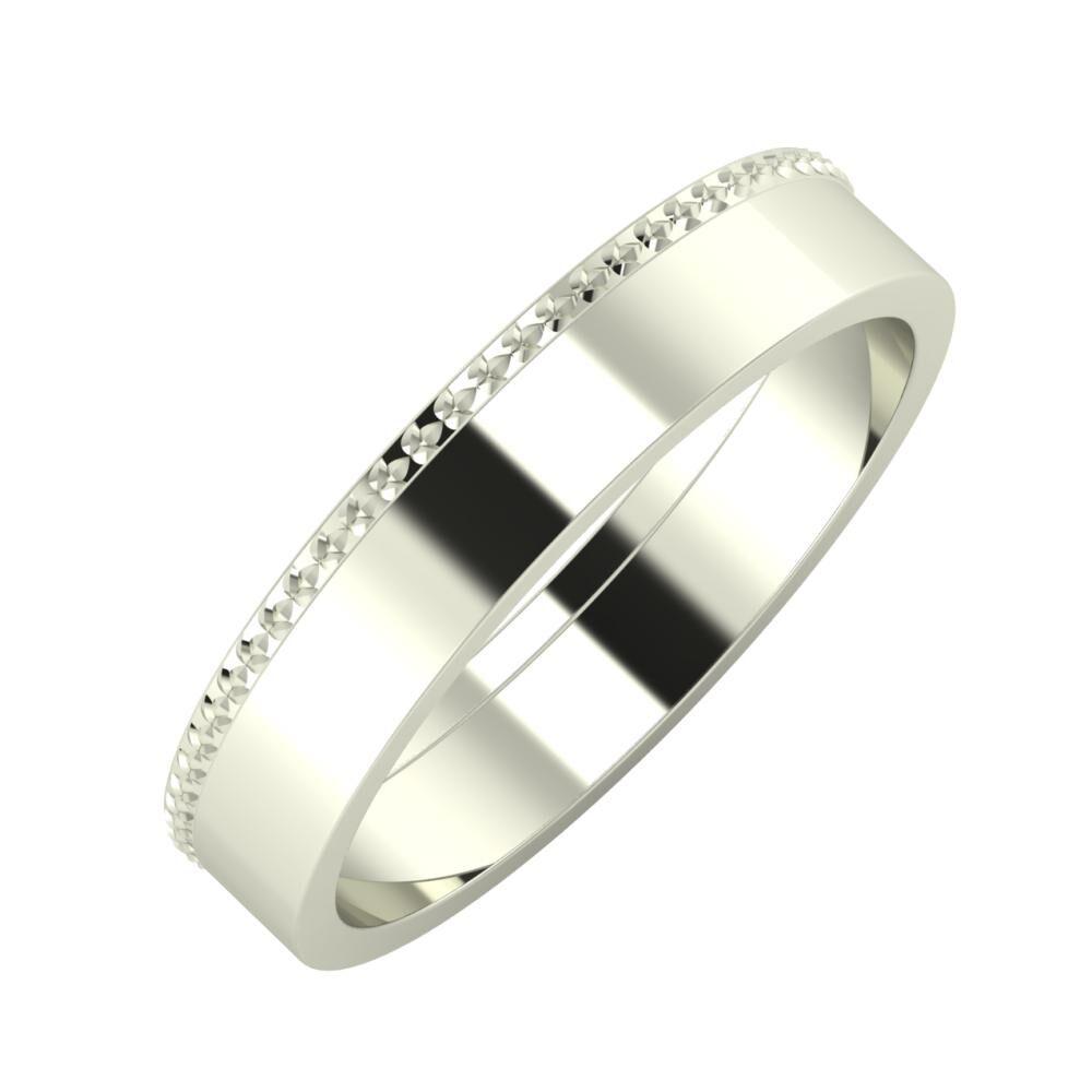 Ági - Adela 4mm 14 karátos fehér arany karikagyűrű