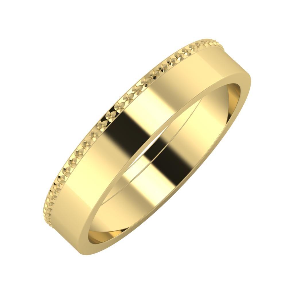 Ági - Adela 4mm 14 karátos sárga arany karikagyűrű