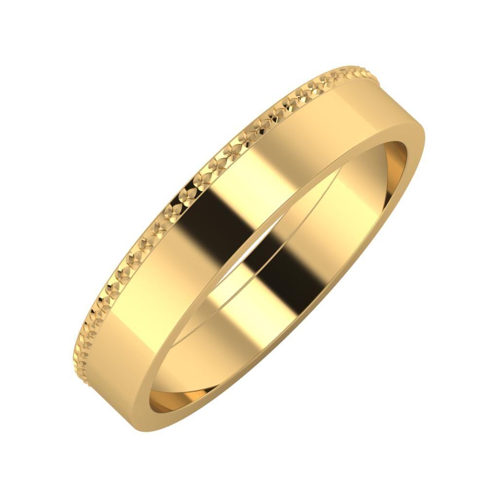 Ági - Adela 4mm 18 karátos sárga arany karikagyűrű