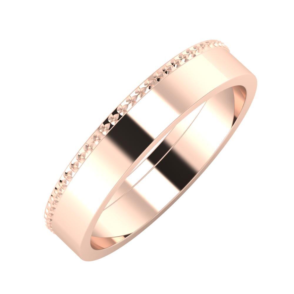 Ági - Adela 4mm 18 karátos rosé arany karikagyűrű