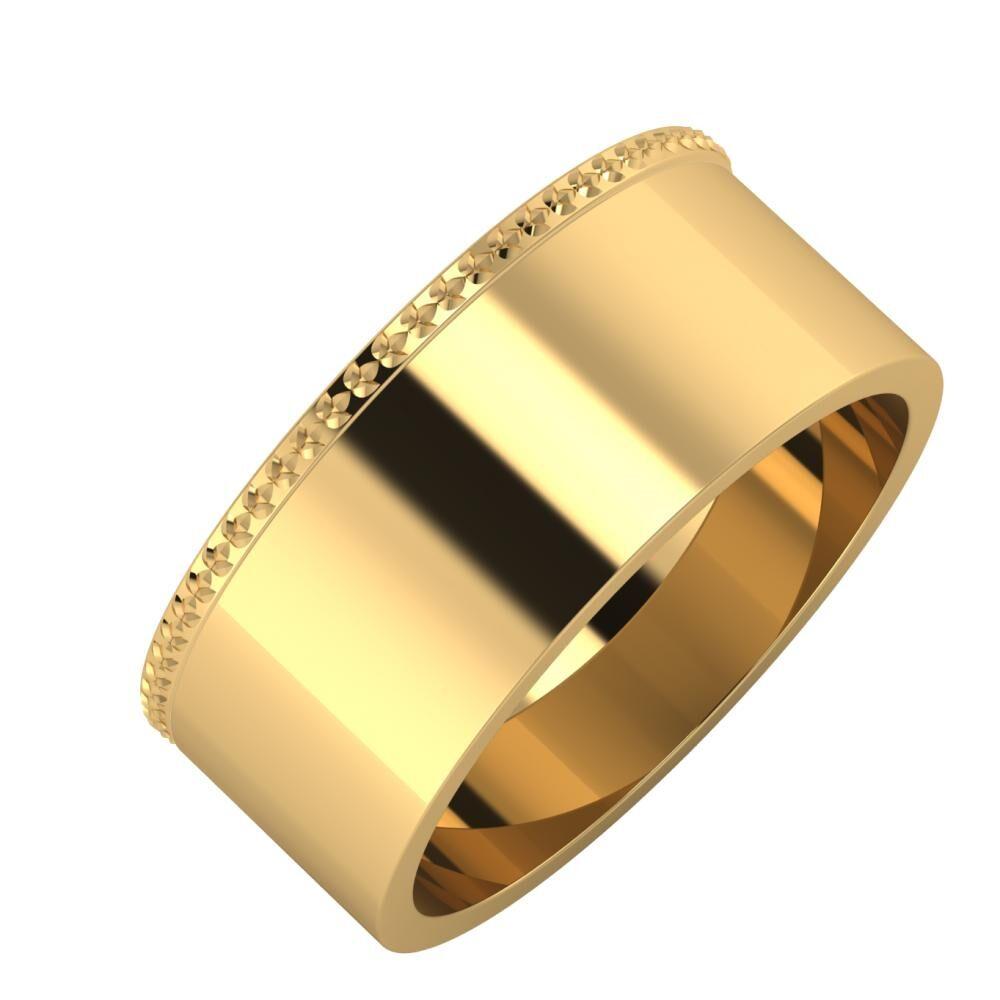 Ági - Adela 8mm 18 karátos sárga arany karikagyűrű