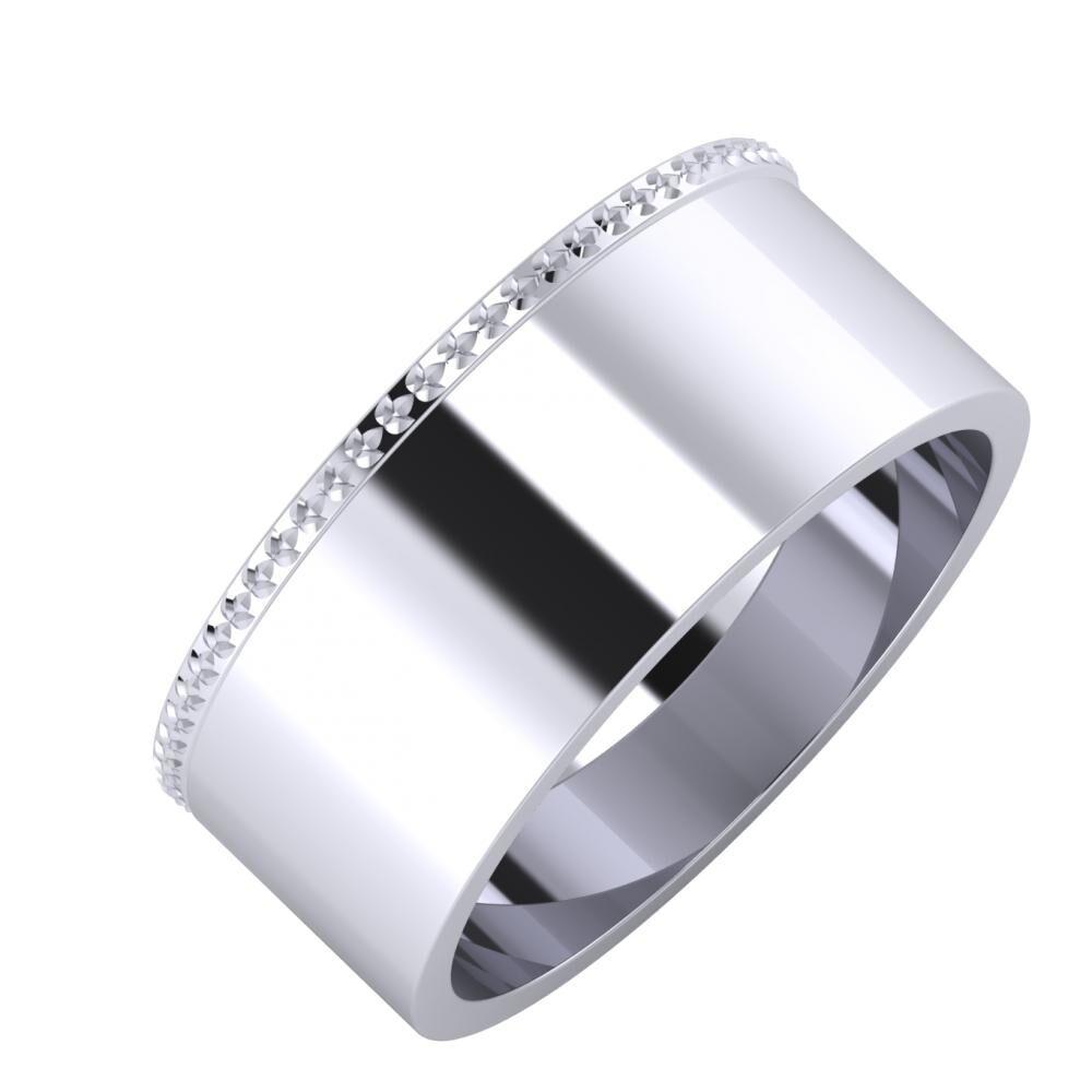 Ági - Adela 8mm platina karikagyűrű