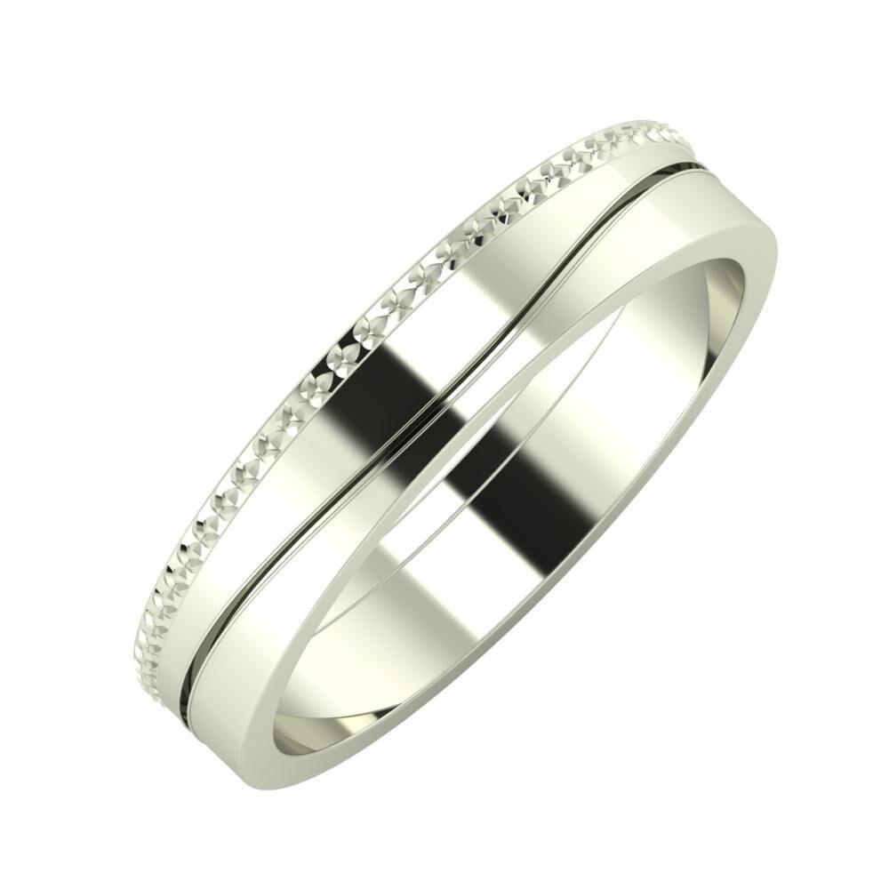 Ági - Adelinda 4mm 14 karátos fehér arany karikagyűrű