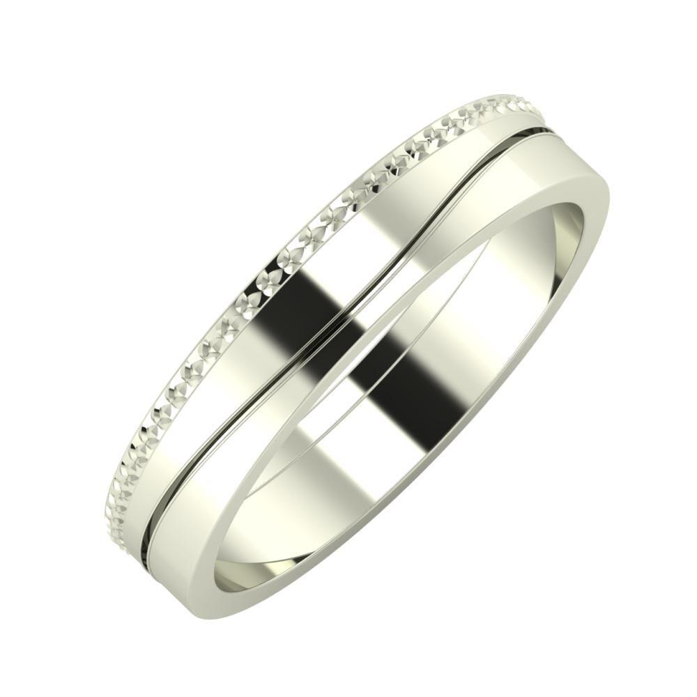 Ági - Adelinda 4mm 18 karátos fehér arany karikagyűrű