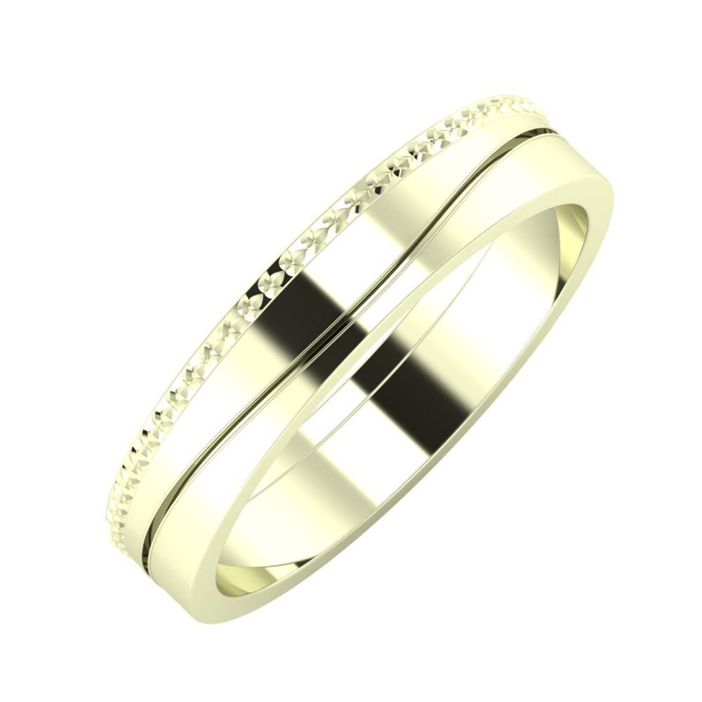 Ági - Adelinda 4mm 22 karátos fehér arany karikagyűrű