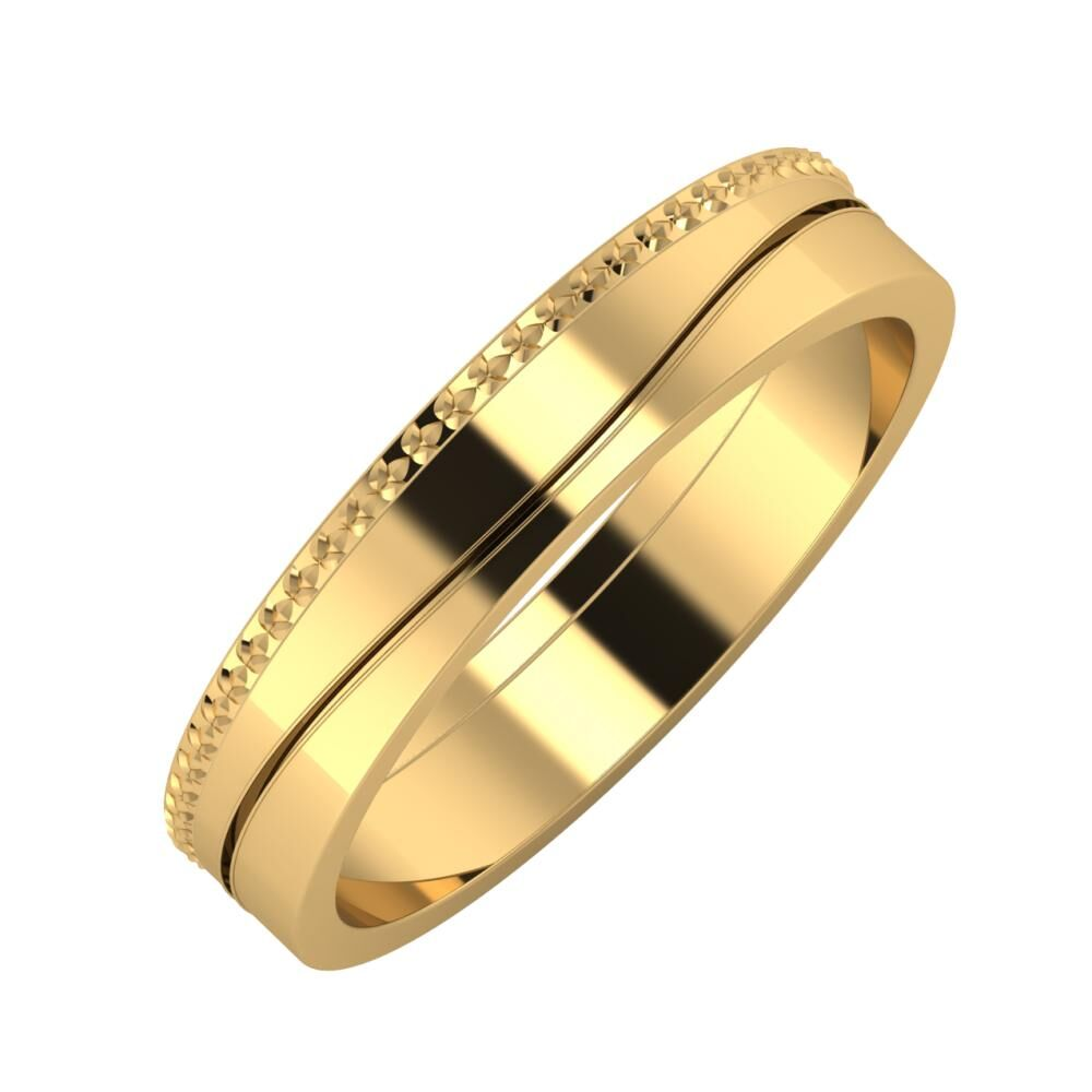 Ági - Adelinda 4mm 22 karátos sárga arany karikagyűrű