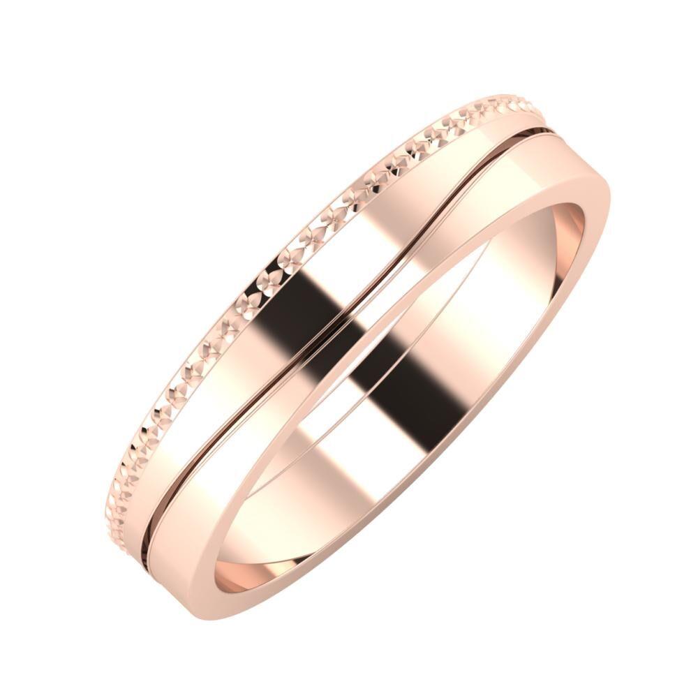 Ági - Adelinda 4mm 14 karátos rosé arany karikagyűrű