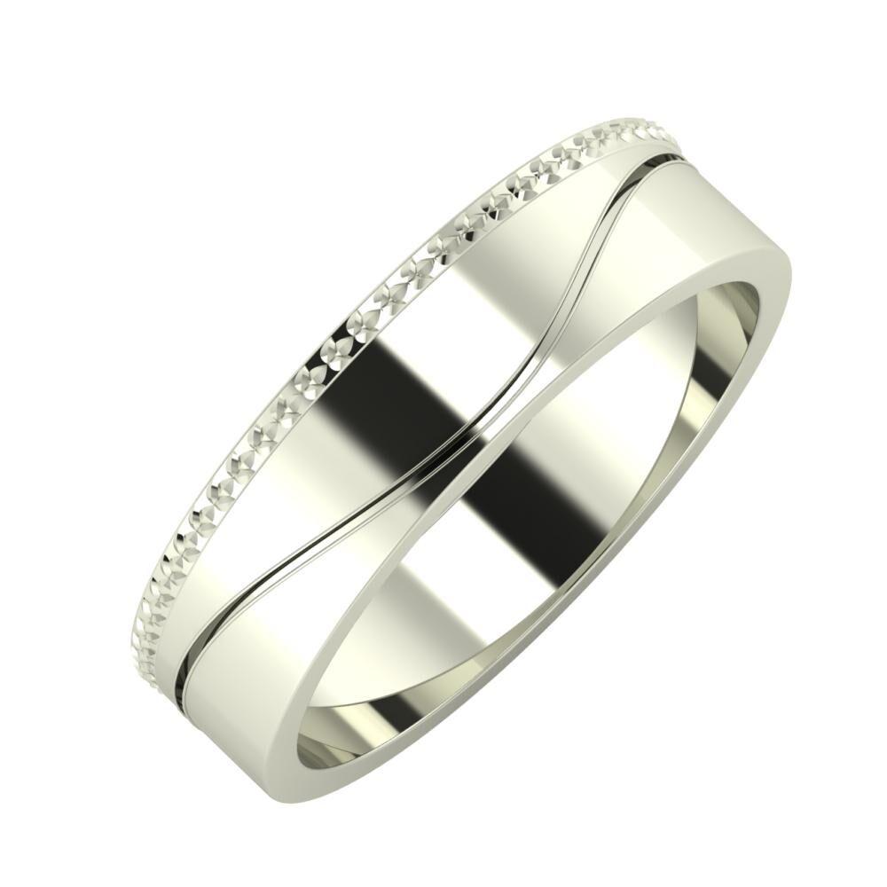 Ági - Adelinda 5mm 14 karátos fehér arany karikagyűrű