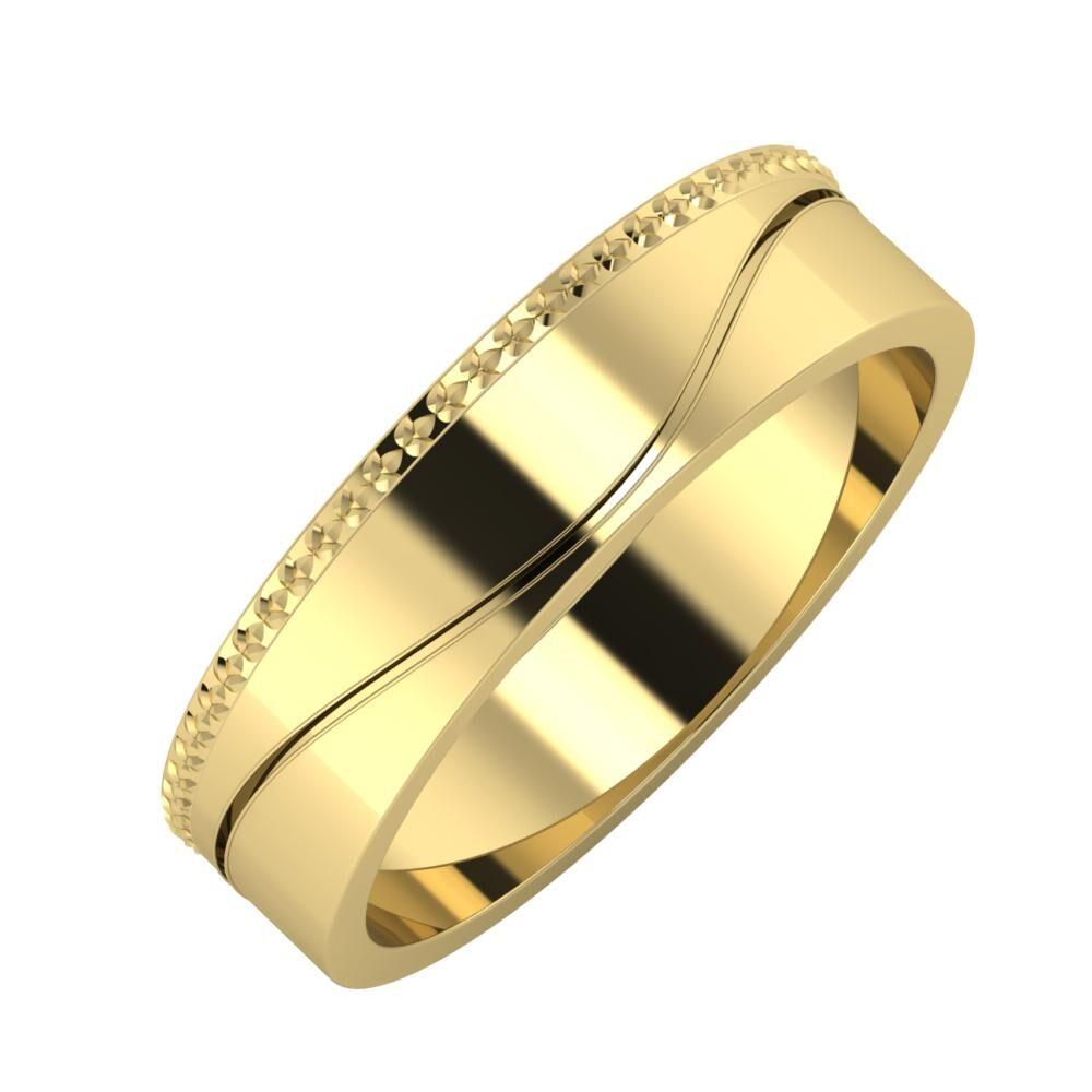Ági - Adelinda 5mm 14 karátos sárga arany karikagyűrű