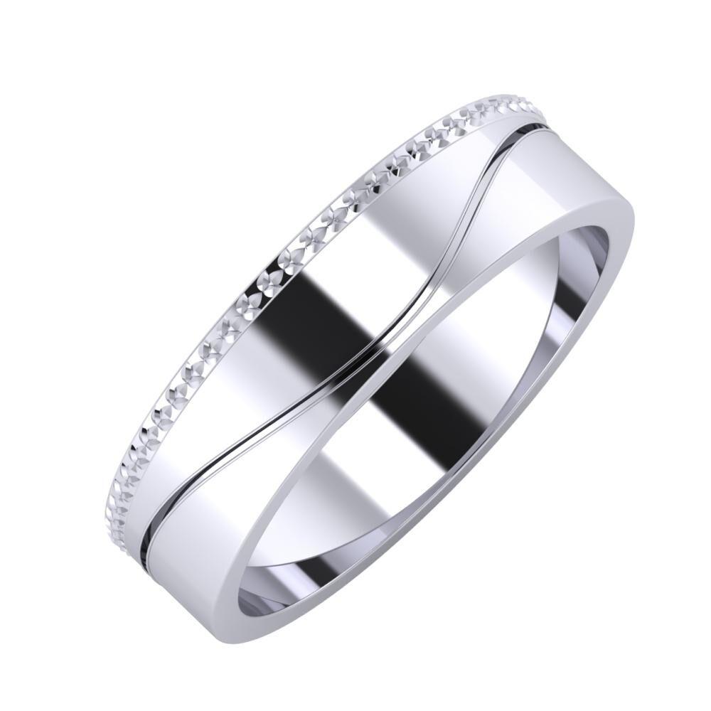 Ági - Adelinda 5mm platina karikagyűrű