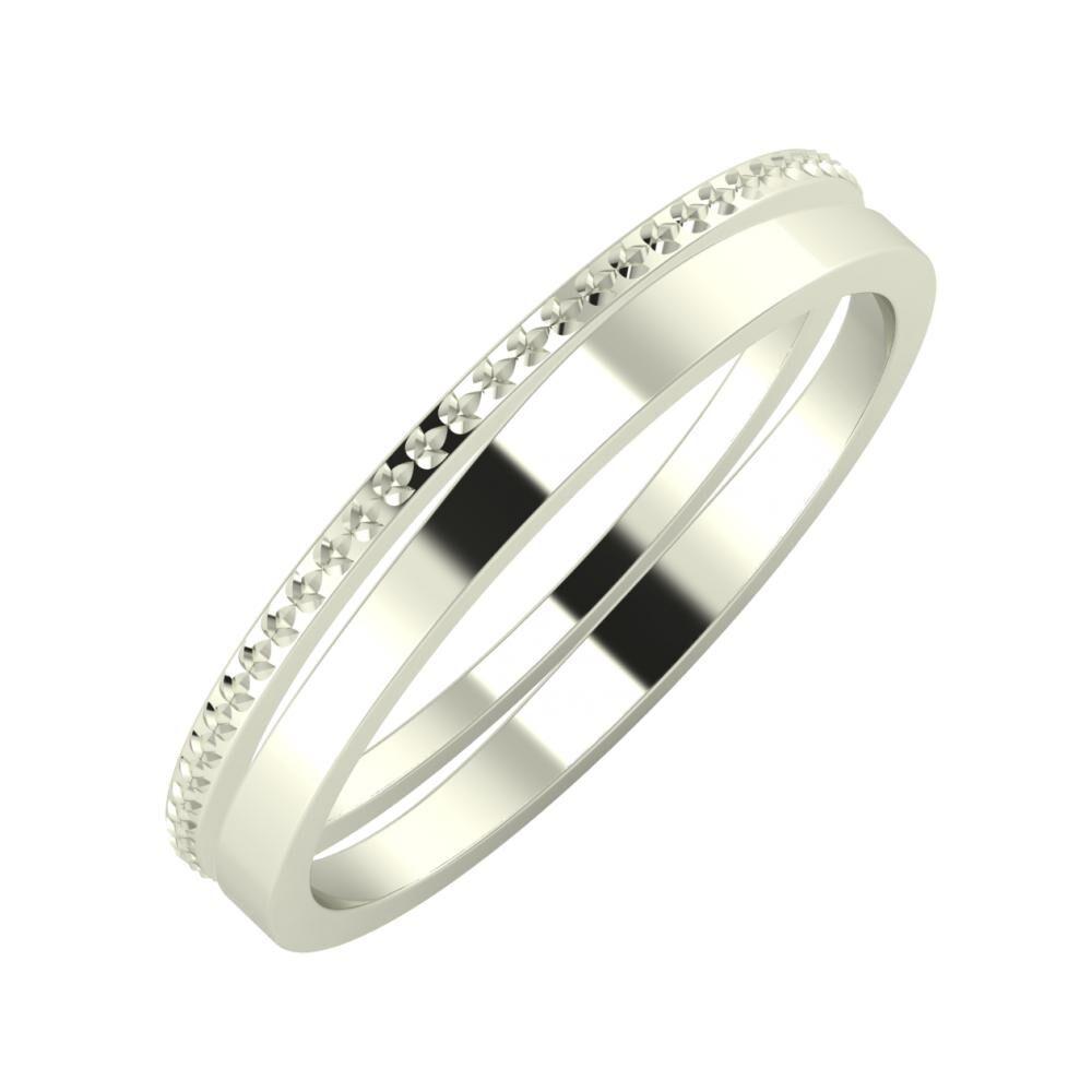 Ági - Adria 3mm 18 karátos fehér arany karikagyűrű
