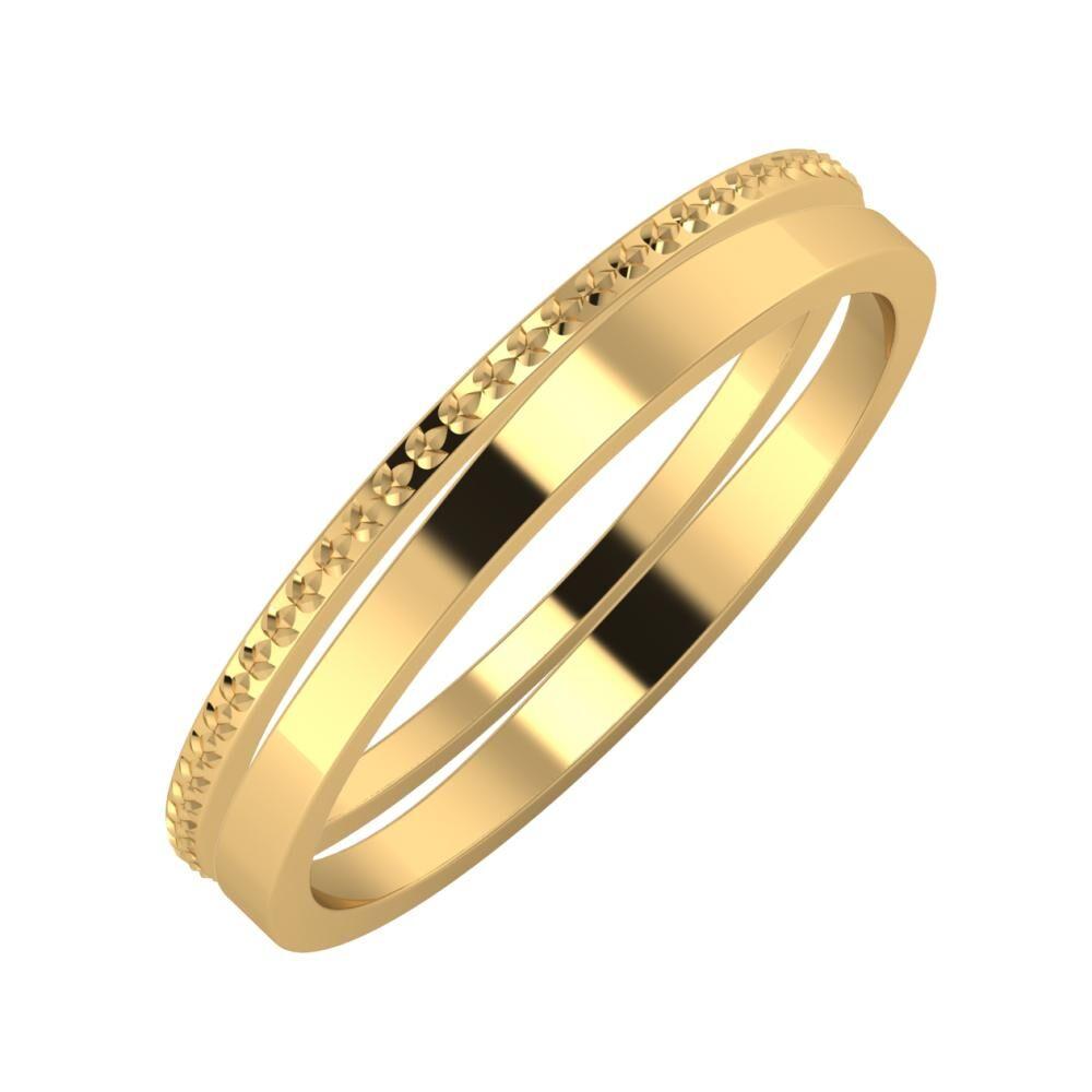 Ági - Adria 3mm 22 karátos sárga arany karikagyűrű