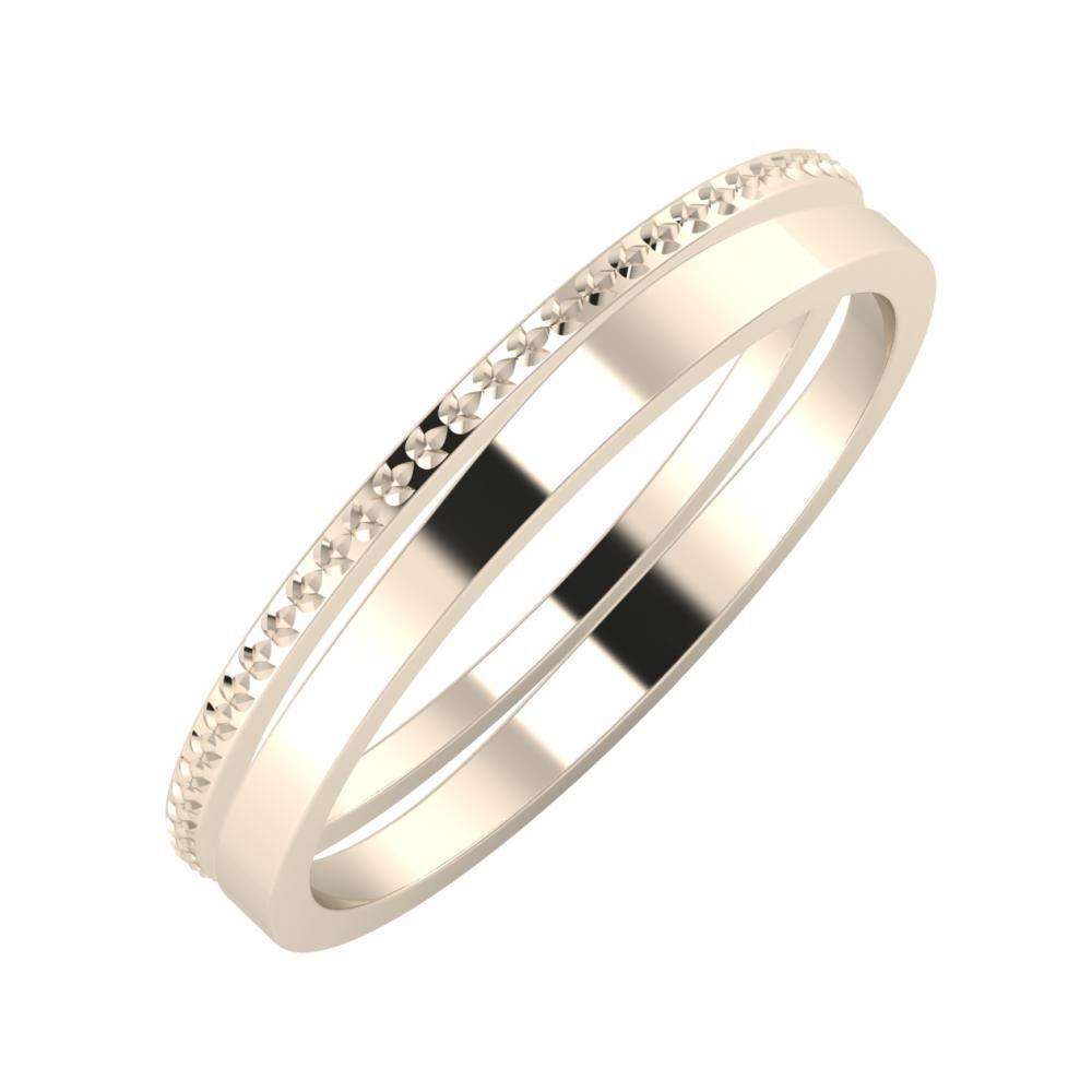 Ági - Adria 3mm 22 karátos rosé arany karikagyűrű