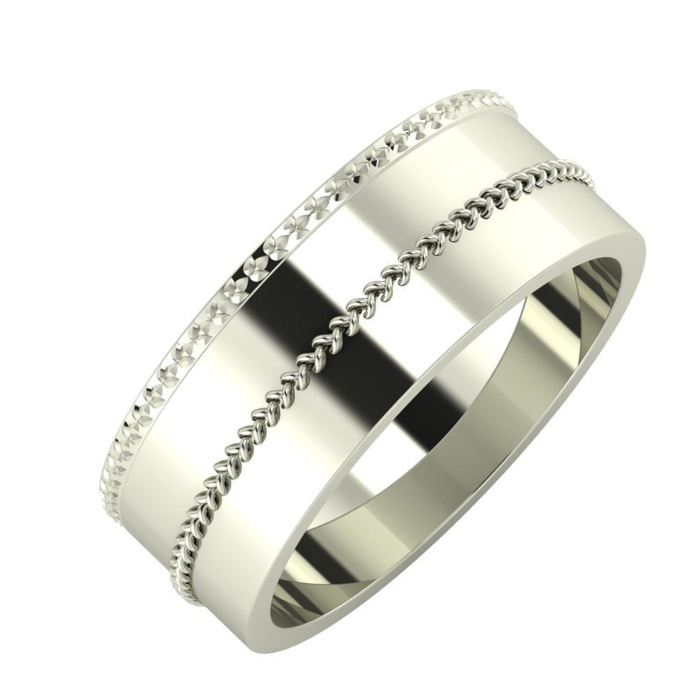 Ági - Áfonya 7mm 14 karátos fehér arany karikagyűrű