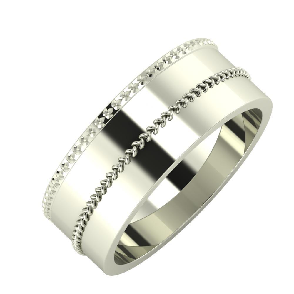Ági - Áfonya 7mm 18 karátos fehér arany karikagyűrű