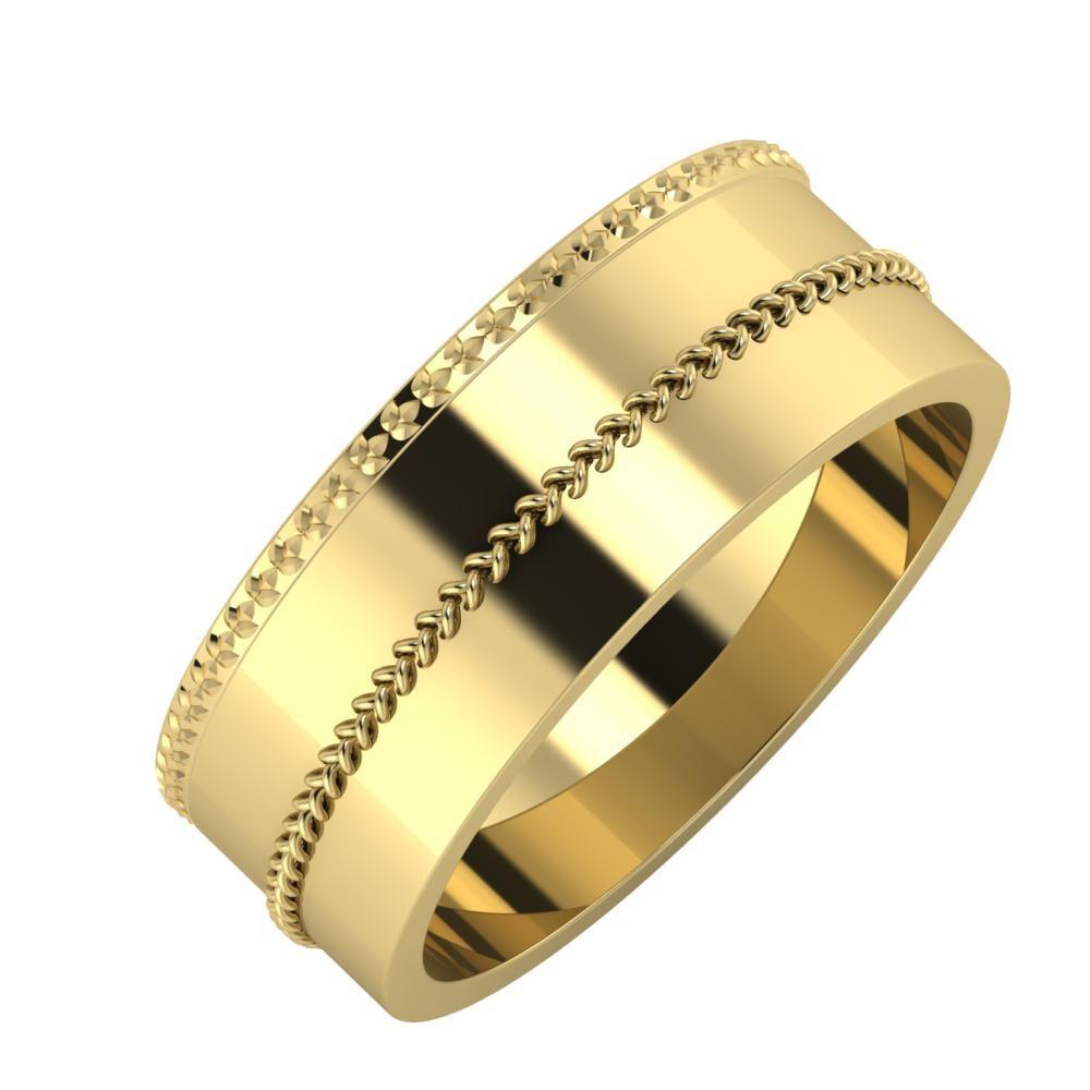 Ági - Áfonya 7mm 14 karátos sárga arany karikagyűrű