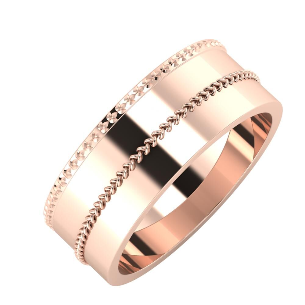 Ági - Áfonya 7mm 18 karátos rosé arany karikagyűrű
